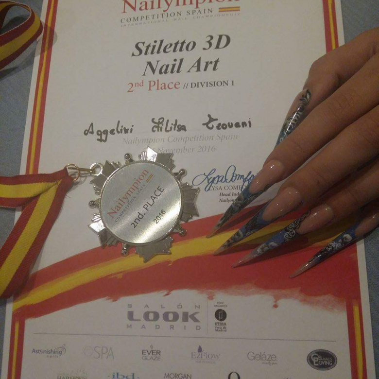 Stiletto 3D nail art
