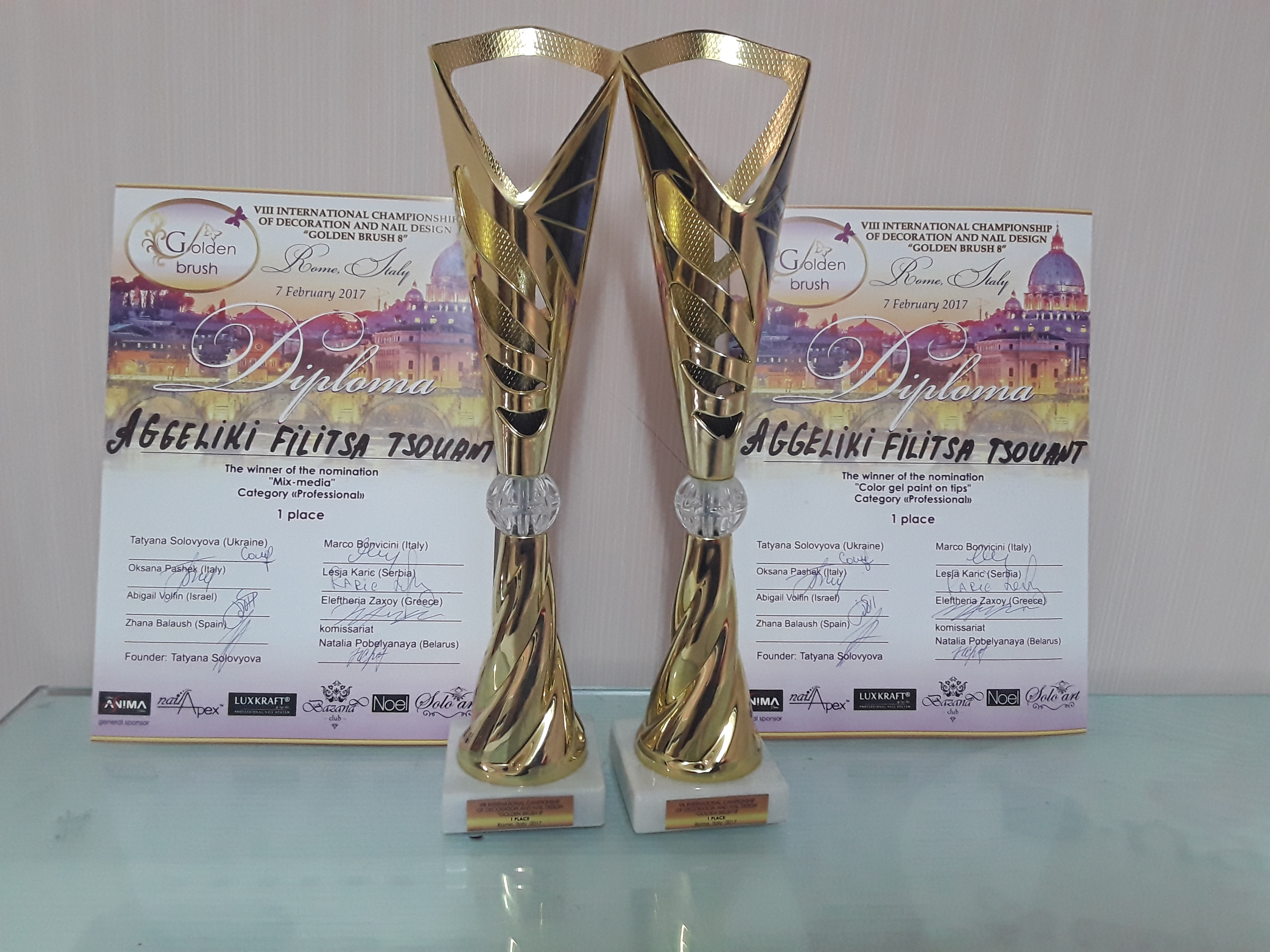 "8th INTERNATIONAL CHAMPIONSHIP DECORATION AND NAIL DESIGN ""GOLDEN BRUSH"""